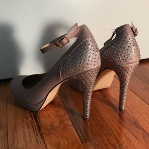 Style & Co shimmer heels with ankle strap